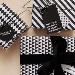 Papel de regalo en blanco y negro