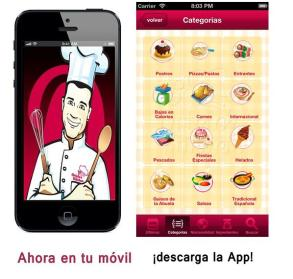 App recetas sin lactosa iPhone, Android y tablet