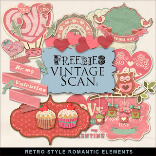 Retro style romantic elements